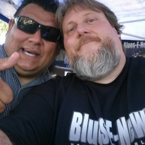 Big Wayne Executive Editor and Publisher of Blues-E-News with Mike Hammer, of Mike Hammer and the NAILS blues band