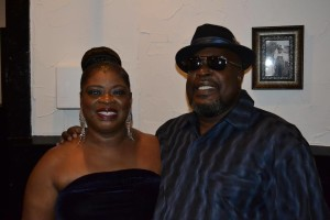 My husband and I enjoying The Blues at one of my performances!! My number one supporter!!