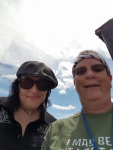 Look who I ran into on tour with Blues Caravan, none other than Laura Chavez
